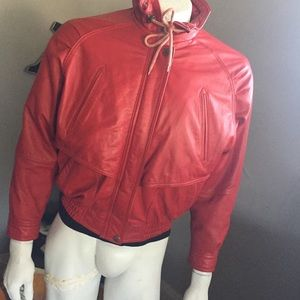 Vintage red Wilson's leather jacket